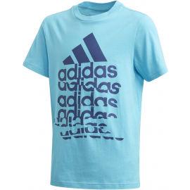 adidas YB BADGE OF SPORTS TEE - Koszulka chłopięca