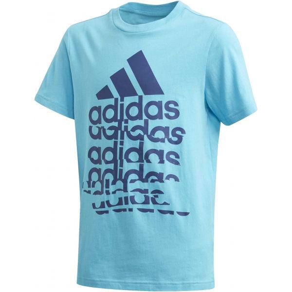 adidas YB BADGE OF SPORTS TEE - Chlapčenské tričko