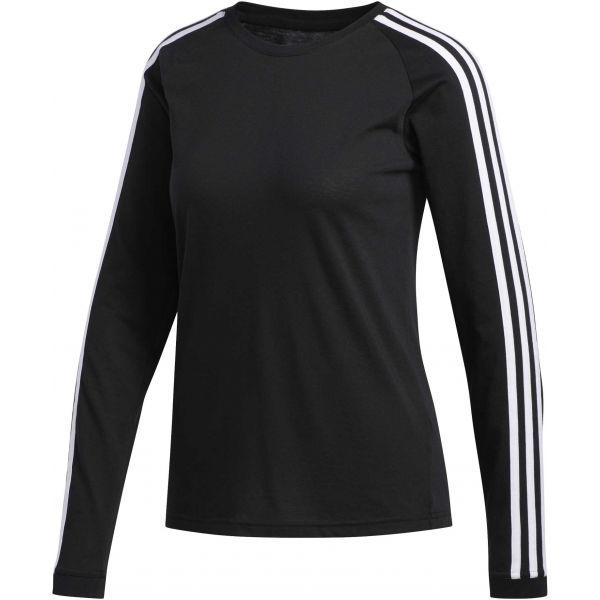 adidas 3 STRIPES LONGSLEEVE černá M - Dámské sportovní tričko