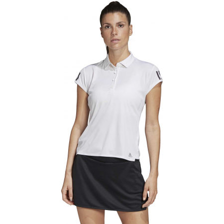 Women's tennis T-shirt - adidas CLUB 3 STRIPES POLO - 4