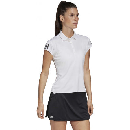 Women's tennis T-shirt - adidas CLUB 3 STRIPES POLO - 6