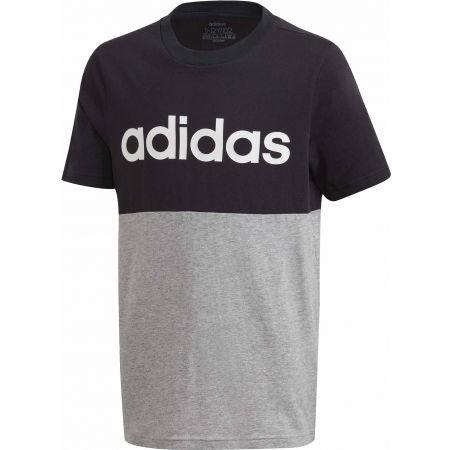 Chlapčenské tričko - adidas YOUNG BOYS LINEAR COLORBOCK T-SHIRT - 1