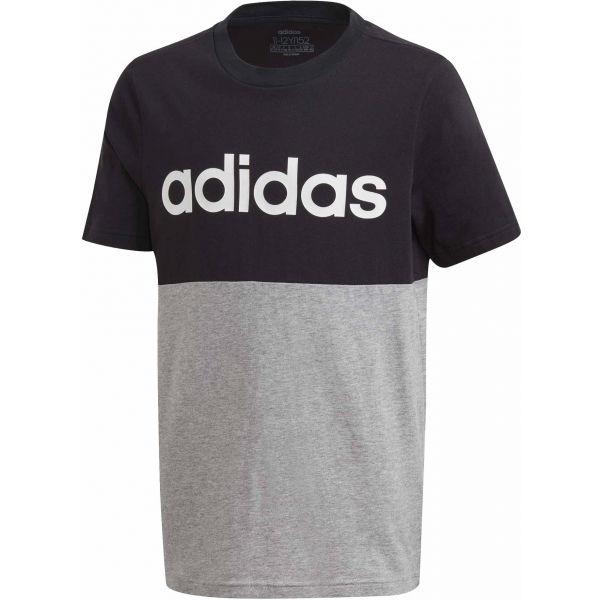 adidas YOUNG BOYS LINEAR COLORBOCK T-SHIRT  164 - Pánske tričko