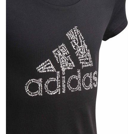 Tricou fete - adidas YG BADGE OF SPORT TEE - 3