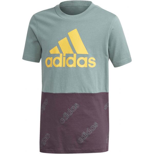 adidas YB FAV AOP FZ TEE  164 - Chlapecké sportovní triko