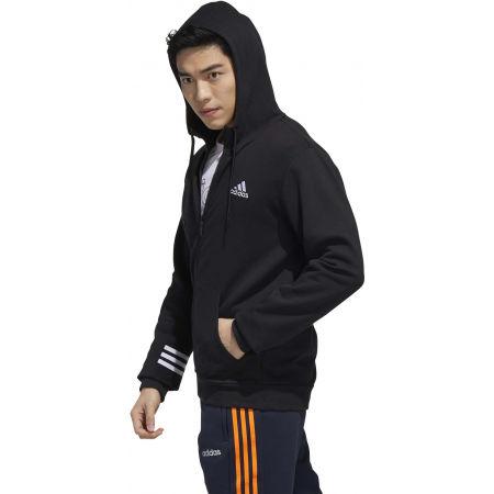 Herren Sweatshirt - adidas MENS ESSENTIALS COMFORT HOODED TRACKTOP - 5