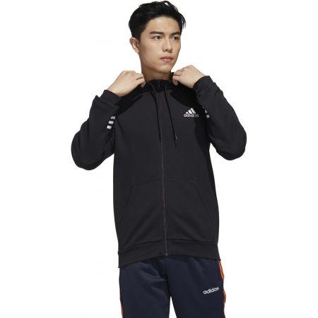 Herren Sweatshirt - adidas MENS ESSENTIALS COMFORT HOODED TRACKTOP - 4