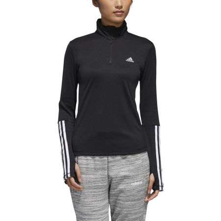 Women's sports sweatshirt - adidas WOMEN INTUITIVE WARMTH 1/4 ZIP LONGSLEEVE - 3