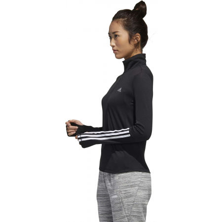 Women's sports sweatshirt - adidas WOMEN INTUITIVE WARMTH 1/4 ZIP LONGSLEEVE - 5