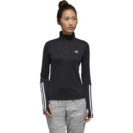 Women's sports sweatshirt - adidas WOMEN INTUITIVE WARMTH 1/4 ZIP LONGSLEEVE - 4