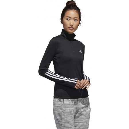 Women's sports sweatshirt - adidas WOMEN INTUITIVE WARMTH 1/4 ZIP LONGSLEEVE - 6