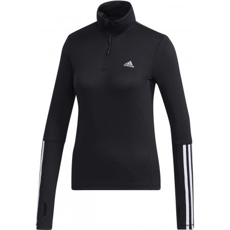 Women's sports sweatshirt - adidas WOMEN INTUITIVE WARMTH 1/4 ZIP LONGSLEEVE - 1