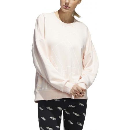 Hanorac femei - adidas WOMENS FAVOURITES BIG LOGO SWEATSHIRT - 3