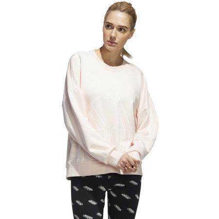 Hanorac femei - adidas WOMENS FAVOURITES BIG LOGO SWEATSHIRT - 4