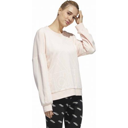 Hanorac femei - adidas WOMENS FAVOURITES BIG LOGO SWEATSHIRT - 5