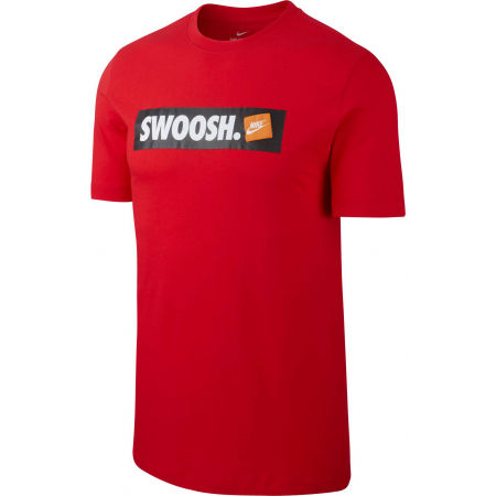 Koszulka męska - Nike TEE SWOOSH BMPR STKR - 1