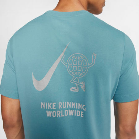 Pánské běžecké tričko - Nike DRY TEE WILD RUN GLOBEY M - 4