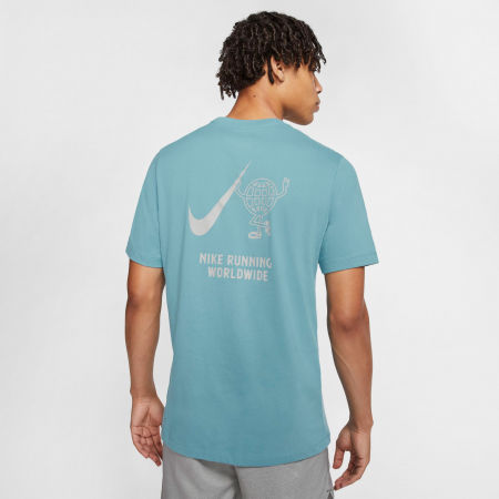 Pánské běžecké tričko - Nike DRY TEE WILD RUN GLOBEY M - 2