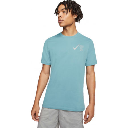 Pánské běžecké tričko - Nike DRY TEE WILD RUN GLOBEY M - 1