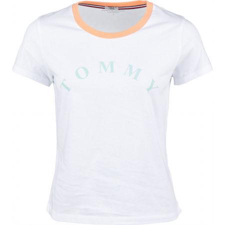 Dámské tričko - Tommy Hilfiger SS TEE SLOGAN - 1