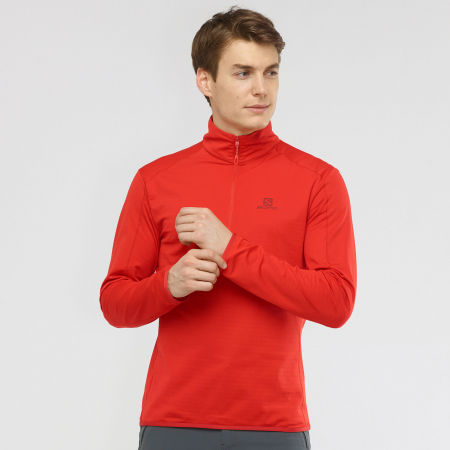 Herren Sweatshirt - Salomon OUTRACK HALF ZIP MID - 4