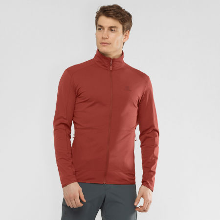 Men's sweatshirt - Salomon OUTRACK FULL ZIP MID M - 2