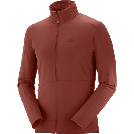 Salomon OUTRACK FULL ZIP MID M - Pánska mikina