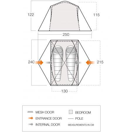Camping tent - Vango TRYFAN 200 - 10