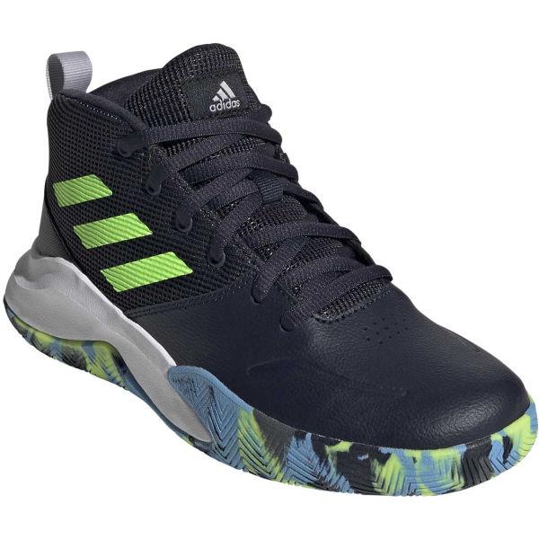adidas OWNTHEGAME K WIDE modrá 34 - Dětské volnočasové tenisky