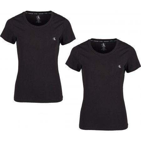 Dámske tričko - Calvin Klein S/S CREW NECK 2PK - 1