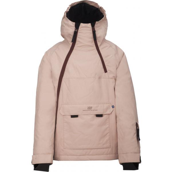 2117 LILLHEM růžová 128 - Dětská lyžařská bunda