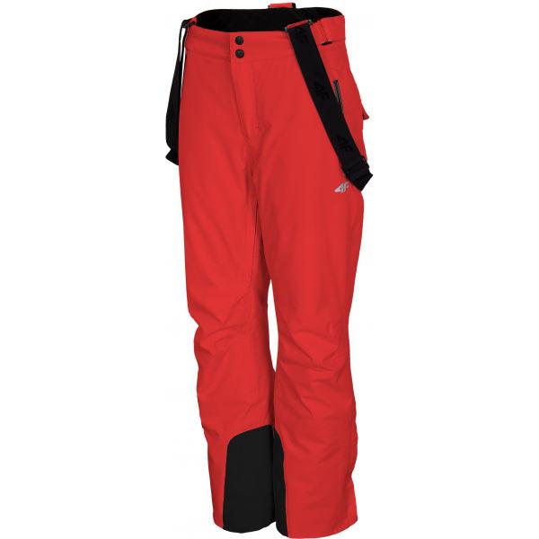 4F WOMEN´S SKI TROUSERS červená XL - Dámské lyžařské kalhoty