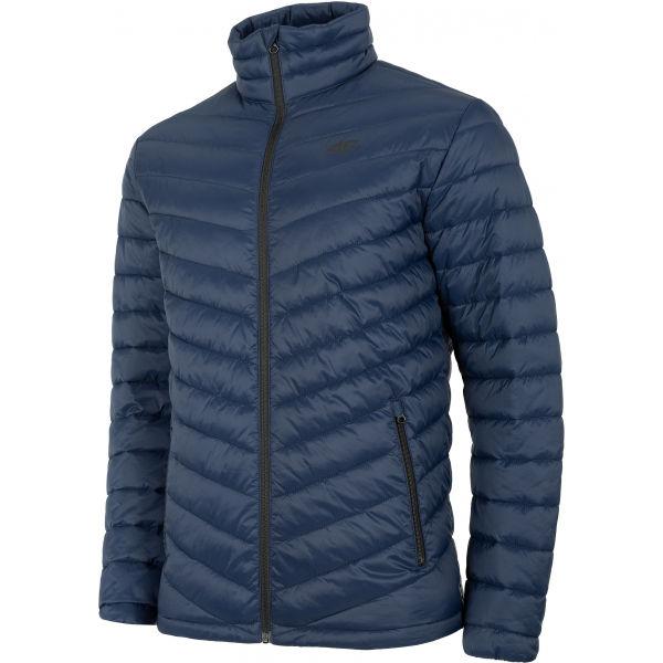 4F MEN´S JACKET tmavo modrá S - Pánska bunda