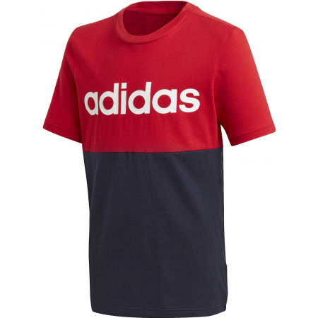 adidas YB LINEAR COLORBLOCK TEE - Juniorské tričko