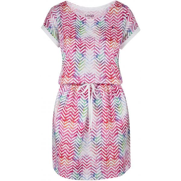 Loap ALORKA růžová S - Dámské šaty