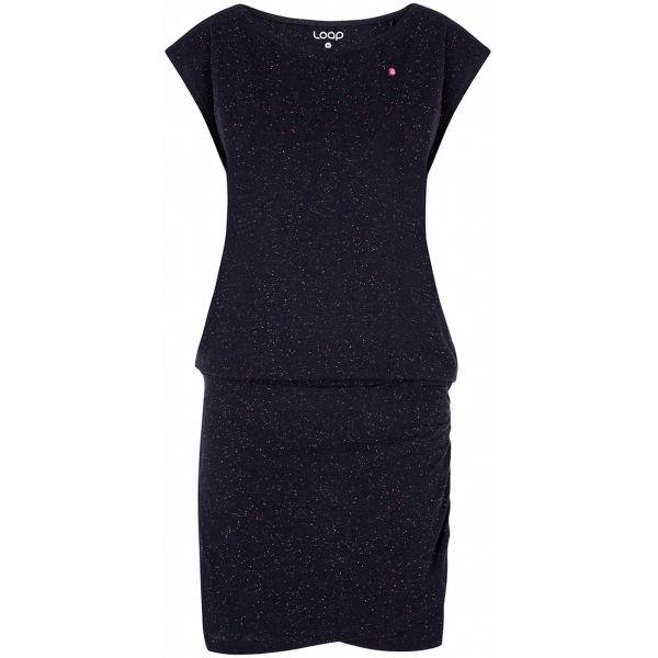 Loap BUKKI tmavě modrá XL - Dámské šaty