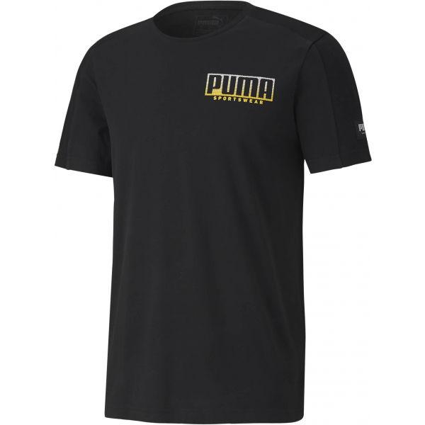 Puma ATHLETICS ADVANCED TEE černá XXL - Pánské triko