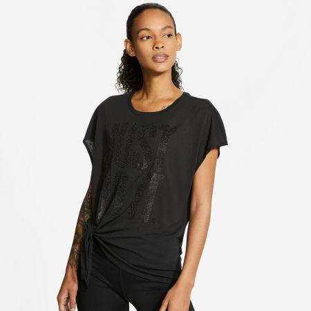 Dámské tréninkové tričko - Nike DRY SS TOP TIE PP1 SPRKLE W - 3