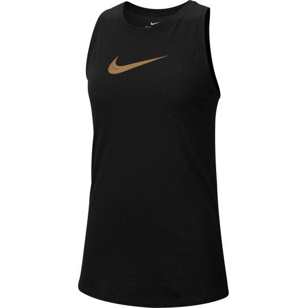 Nike DRY TANK SLUB ICON CLA W fekete XS - Női ujjatlan felső edzéshez