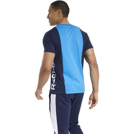 Men's T-Shirt - Reebok TE LL SS BLOCKED TEE - 5