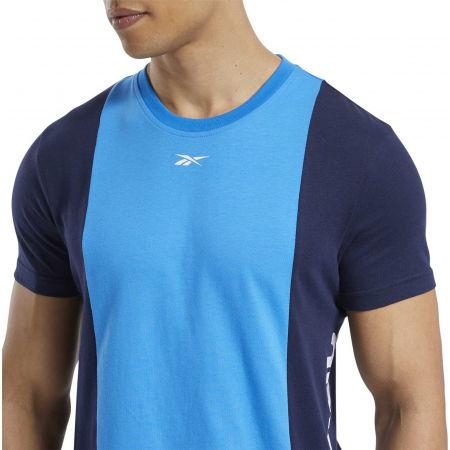 Мъжка тениска - Reebok TE LL SS BLOCKED TEE - 6