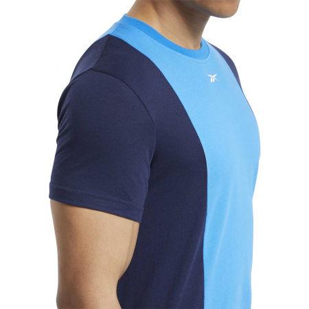 Мъжка тениска - Reebok TE LL SS BLOCKED TEE - 8