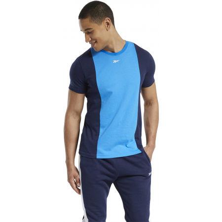 Мъжка тениска - Reebok TE LL SS BLOCKED TEE - 3