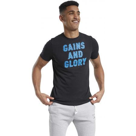 Men's T-Shirt - Reebok GS OPP TEE GRAPHIC - 3