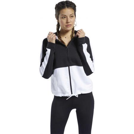 Women's sweatshirt - Reebok TE LINEAR LOGO FT FULLZIP - 3
