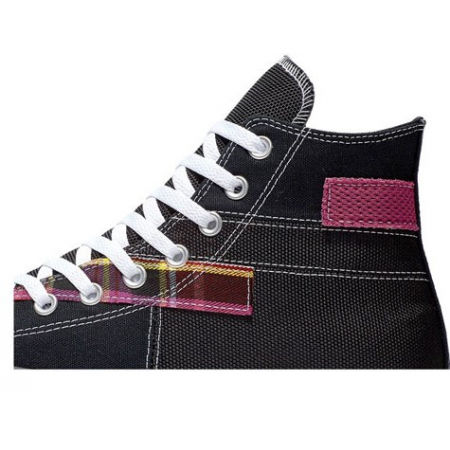 Unisex ankle sneakers - Converse CHUCK TAYLOR ALL STAR PATCHWORK HIGH - 2