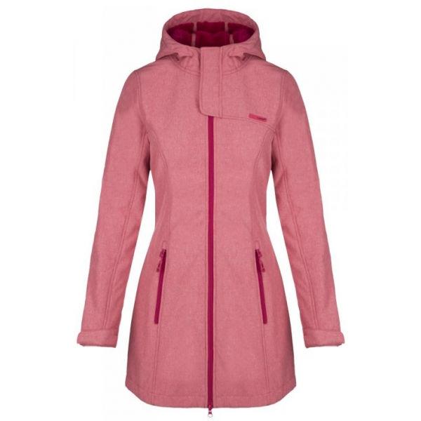 Loap LINZI růžová XS - Dámský sofsthellový kabát