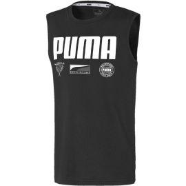 Puma ALPHA SUMMER SVEELESS TEE B - Fiú ujjatlan sportfelső