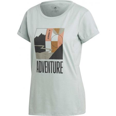 Дамска туристическа тениска - adidas TX ADVENTURE - 1