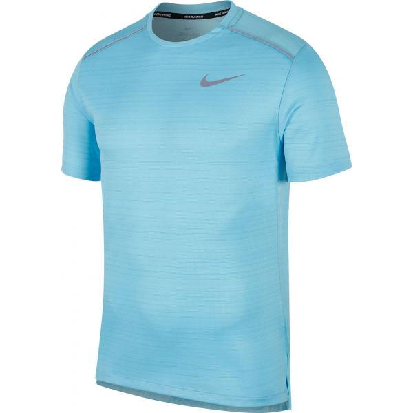Nike DRY MILER TOP SS M modrá M - Pánské běžecké tričko